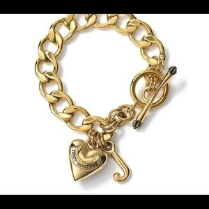 Gold Juicy Couture Charm Bracelet
